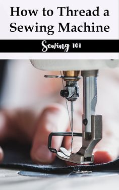 How to thread your sewing machine including practice tips and a printable practice sheet