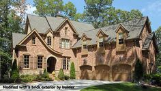 Garrell Associates, Inc. Cheshire House Plan # Front Elevation, European Manor Style House Plans, Tudor Style House Plans s.) Design by Michael W. Dream Home Design, House Design, Cottage Design, L Shaped House, Two Sided Fireplace, Tudor Style Homes, Tudor House, Gothic House, Luxury House Plans