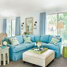 Blue Rooms: Tour a Fabulous Florida Vacation Home   Decorating Files   decoratingfiles.com