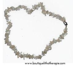 Collier tour de cou 40 cm pierre de lune perles baroques