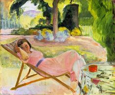 """The Siesta"", Oil On Canvas by Henri Lebasque (1865-1937, France)"