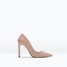 LEATHER HIGH HEELED COURT SHOE - Shoes - WOMAN   ZARA Denmark