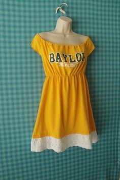 University of Baylor Strapless Game Day Dress