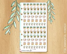 MAY 17 - Watercolor Stickers Perfectly Fitting Your Kikki.K medium or Filofax Personal For Spring Times : 84 Beverages Stickers Watercolor Stickers, Unique Words, Life Planner, Filofax, Cute Stickers, Advent Calendar, Scrapbook, Holiday Decor, Handmade