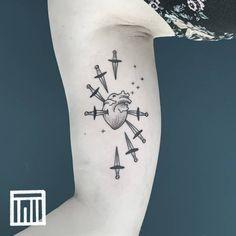 "Gefällt 44 Mal, 0 Kommentare - Thiago de Mello - Tattooer (@thiago.de.mello.ink) auf Instagram: ""Eight of Swords. Obrigado Paola! 🙏. For inquiries: thiagodemello@gmail.com . . . . . .…"" Swords, Blackwork, Tarot, Ink, Tattoos, Instagram, Tatuajes, Tattoo, India Ink"