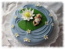 The most gorgeous christening cake I have ever seen! With a step by step photo guide and instructions in Finnish, by kinuskikissa