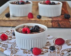 Chocolate chia seed pudding.  Decadent enough to have for dessert, but it's also healthy enough to have for breakfast.