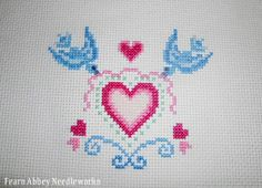 Fearn Abbey Needleworks: FREE: Hearts & Birds for Valentine's Day!