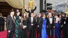 Oscars 2014 mit Benedict Cumberbatch: Lustige Photobomb mit U2
