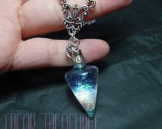 Wicked opal water pendulum necklace