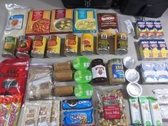 72 Hour Food Supply (Home Preps) - YouTube