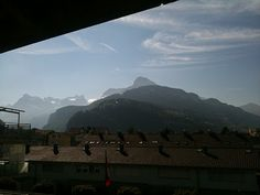 the view from our #balcony. #switzerland #mountains #home #lucky #alps