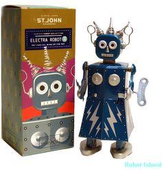 Electra Robot Tin Toy Windup St. John Toys – Robot Island