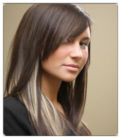 Stunning Highlights for Black Hair to Make You Gorgeous #Peek-a-boostyle #highlights Blonde Highlights Underneath, Dark Brown Hair With Blonde Highlights, Red Hair With Blonde Highlights, Red Blonde Hair, Chunky Highlights, Black Hair, Color Highlights, Dark Blonde, Blonde Roots
