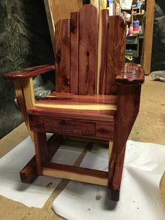 Toddler Rocking Chair, Cedar Table, Rustic Furniture, Woodworking, Home Decor, Childs Rocking Chair, Decoration Home, Room Decor, Carpentry