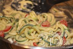 Zucchini Pasta in Lemon Cream Sauce - 1 Serving, 3 Greens, 2 Healthy Fats, and 2.75 Condiments