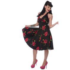 Rock Collection - Voodoo Vixen Red Rose Dress