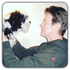 David with max his dog Amazing People, Good People, Images Of David Bowie, Aladdin Sane, Sound & Vision, The Man, Musicians, Animals, Animales