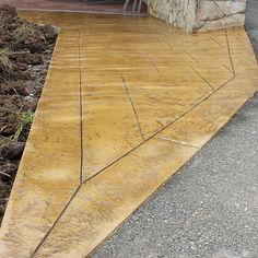 Pavimento de hormigón impreso con ankare zaline corcho