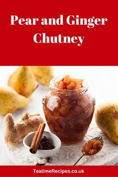 This mouth-watering, homemade chutney is made with fresh pears and apples, along with aromatic ingredients like garlic, ginger, mace, cinnamon, and cumin, as well as juicy, plump sultanas.