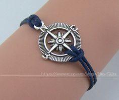 The compass bracelet antique silver charm bracelet wax by NewGifts, $0.99