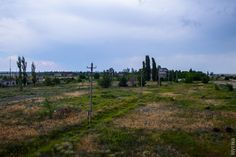 Russian abandoned air force base looking towards the control tower