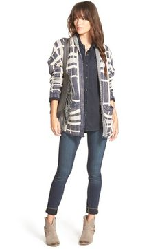 Treasure&Bond Cardigan, Shirt & Paige Denim Jeans available at #Nordstrom