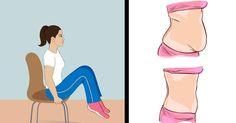 Chcete sa zbaviť tuku na bruchu a spevniť brušné svalstvo? To všetko môžete na obyčajnej stoličke popri práci v kancelárii alebo doma. Pomôže vám k tomu týchto 6 jednoduchých cvikov.