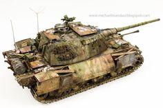 """Das letzte Gericht"" 1/35 scale. What-If 1947 Diorama W.I.P. By Michael Mandau. DRAGON German Entwicklung E100 Ausf. C #scale_model #WW2 #diorama"