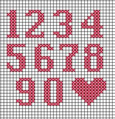 Thrilling Designing Your Own Cross Stitch Embroidery Patterns Ideas. Exhilarating Designing Your Own Cross Stitch Embroidery Patterns Ideas. Cross Stitch Numbers, Cross Stitch Letters, Cross Stitch Cards, Cross Stitching, Cross Stitch Embroidery, Embroidery Patterns, Stitch Patterns, Cross Stitch Alphabet Patterns, Crochet Numbers