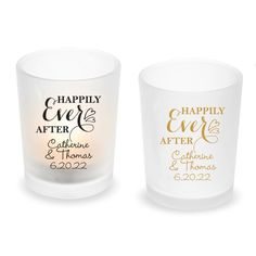 Personalized Tealight Candle Holder Wedding Favors, Happily Ever After Candle Holders Wedding, Tealight Candle Holders, Reception Table Decorations, Wedding Decorations, Tea Light Candles, Tea Lights, Frosted Glass Design, Glass Votive, Tea Light Holder