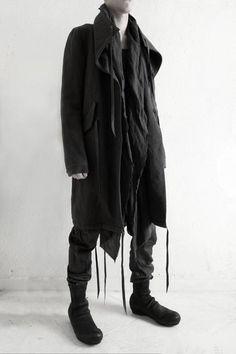DIRAIN Wool Stainless Layered Long Coat
