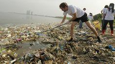 Voorbeeld van oceaanvervuiling