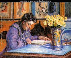 Woman Reading - Armand Guillaumin - www.armandguillaumin.org