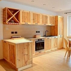 Woodworking Inspiration, Woodworking Projects Diy, Woodworking Plans, Diy Projects, Pallet Kitchen Cabinets, Kitchen Cabinet Design, Pallet Furniture, Furniture Design, Art Furniture