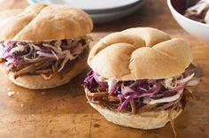 BBQ Beef Brisket Sandwiches with Coleslaw recipe