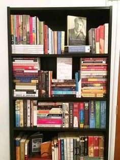 Got a lot of books? There no reason they can't be visually interesting! Best for a stand alone shelf