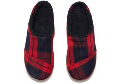 5d1e5f92f10f Red Plaid Men s Berkeley Slippers · Red And Black ...