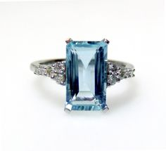 Beaut Jewellery - Aquamarine 18ct White Gold Ring, £950.00 (http://www.beautjewellery.com/shop/bridal/aquamarine-18ct-white-gold-ring/)