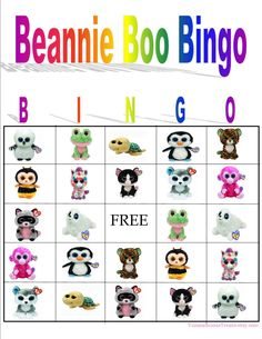 Beanie Boo Bingo Instant Download by YummiliciousTreats on Etsy