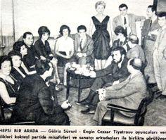 OĞUZ TOPOĞLU : gülriz sururi ve engin cezzar tiyatrosu oyuncuları...