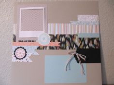 Stampin' Up! scrapbook page 1 of 2; by Heather Westlake; 2014 SAB Sweet Sorbet designer paper, Petal Parade stamp set, On Film Framelits