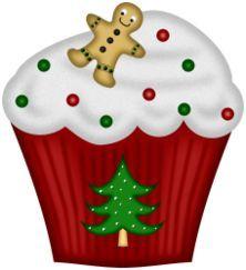 Christmas Cupcake Clip Art | Cupcakes‿ ⁀ | C ᘎ թ C ᗩ Ƙ Ꮛ Տ | Pinterest | Christmas ...