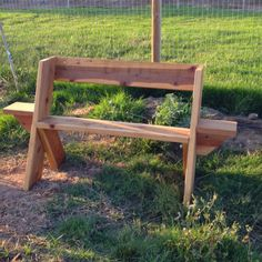 Easy, inexpensive outdoor bench.