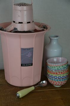 Vintage Candy Pink 50's Triple Wall Cold Spot Ice by sugarSCOUT