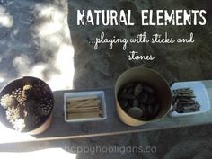 Open-ended play with sticks, stones & other natural elements from @Jackie Currie