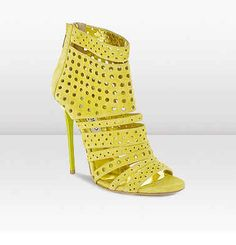 Jimmy Choo Malika Citrine Suede Strappy Sandals