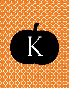 Halloween Monogram Print #homedecor #style #interiorstyling #artwork #interiordecoration #interiordecor #interiordesign #gallerywall #print #fall #autumn #halloween #personalized #monogram