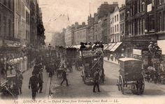 """Oxford Street, London : """"It was a quarter past nine when I started from home and made my way across the Park, and so through Oxford Street to Baker Street."""" (REDH)"""