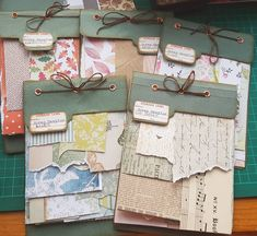 It's an organizing day! Making scrap samplers (I have far too many scraps) these are great fun to make . Journal Pages, Junk Journal, Journal Ideas, Bullet Journal, Paper Art, Paper Crafts, Mini Albums Scrap, Handmade Books, Smash Book